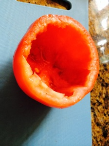 hollowed out tomato