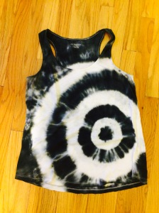 black and white tie dye